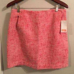 Joe Fresh Mini Skirt Sz 4 NWT Pink Tweed Spring